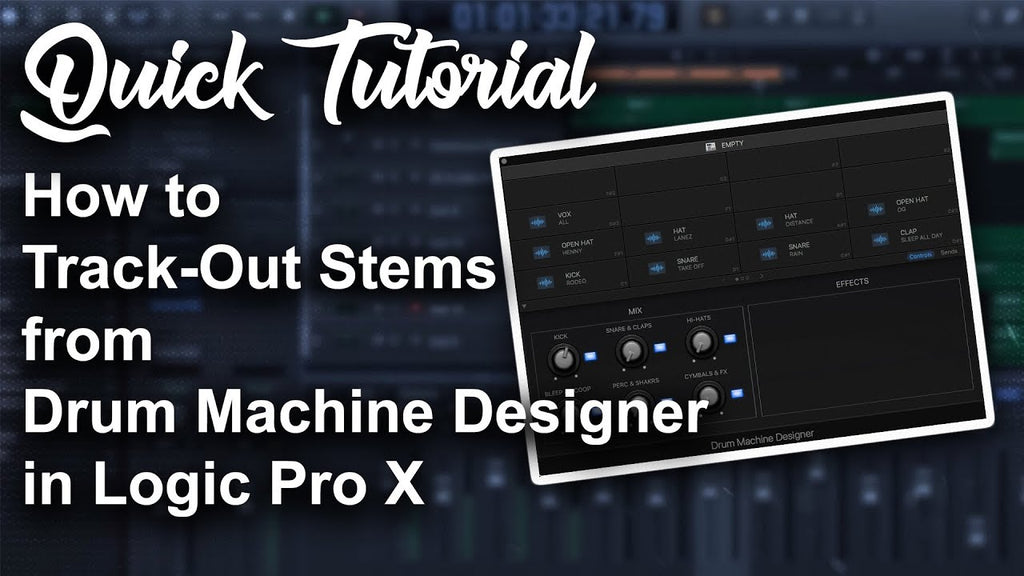 🥁 How to Track-out Stems from Drum Machine Designer | Logic Pro X Tutorial