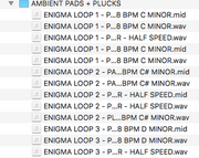 Enigma - Sample Loops, Midi & Drum Kit