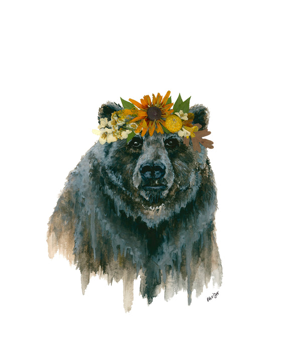NEW PRINT - Mama Bear I - Oxeye Floral Co. X Jill Weston Art