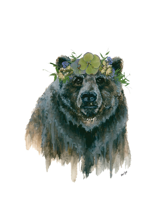 NEW PRINT - Mama Bear II - Oxeye Floral Co. X Jill Weston Art