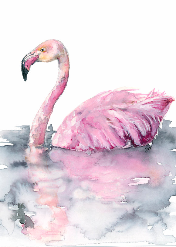 Print - The Pink Flamingo