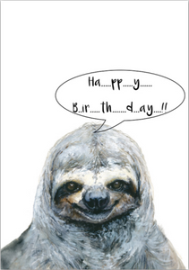 Card - Happy Birthday Sloth