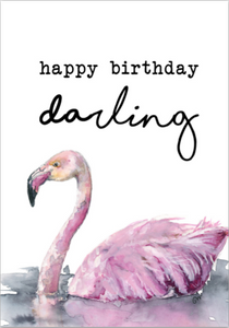 Card - Happy Birthday Flamingo