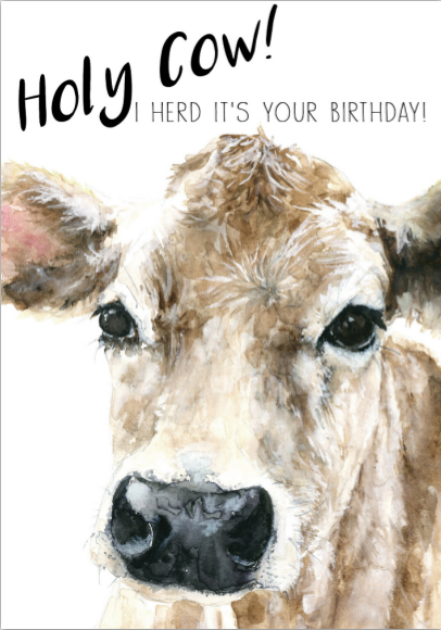 Card - Happy Birthday Cow