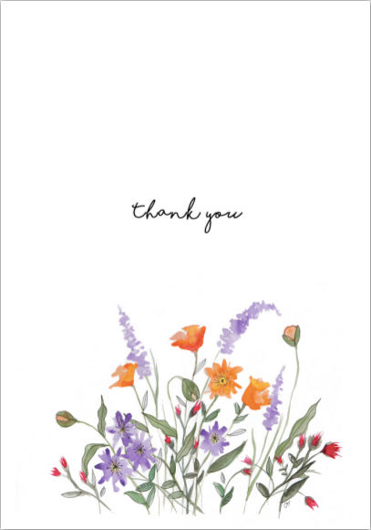 Card - Thank You Wild Flowers