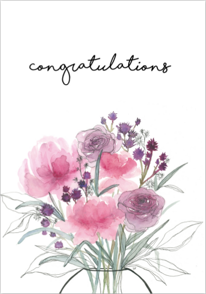 Card - Congratulations Bouquet