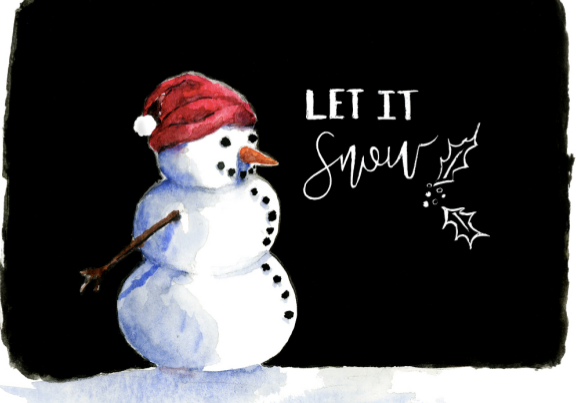 Card - Let it Snow
