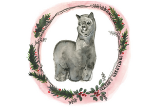 Card - Seasons Greetings Alpaca