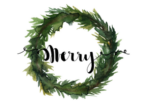 Card - Merry Wreath