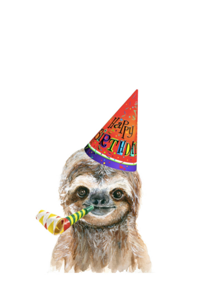 Card - Baby Sloth Happy Birthday