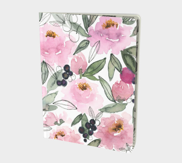 Notebook (Lined pages) - I Love Peonies Berry Much