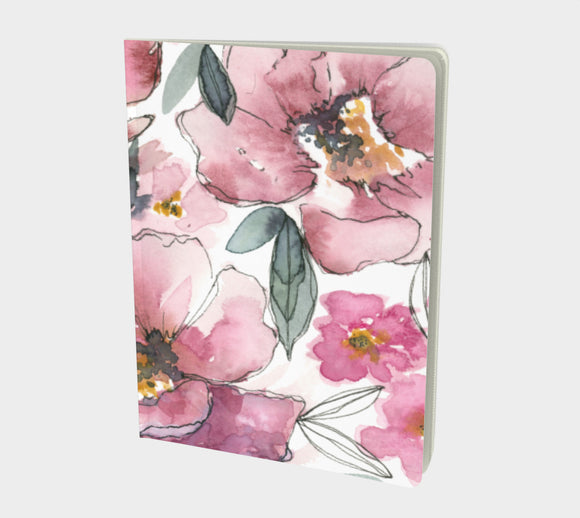Notebook (Lined pages) - Peony Patch