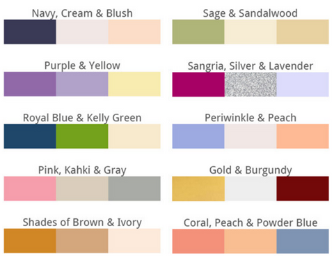 How To Choose Wedding Colors | How To Choose A Wedding Color Theme Margarita S Bakery
