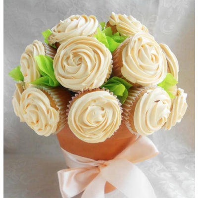 Bouquet of White Cupcakes
