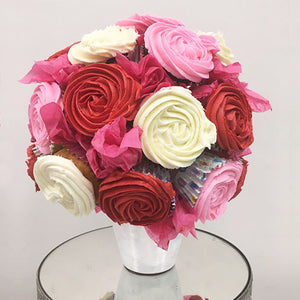 Bouquet of Red Cupcakes