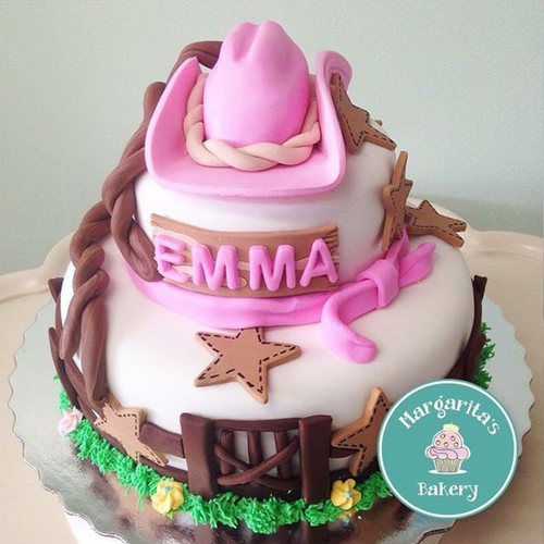 Cowgirl Hat Cake Topper