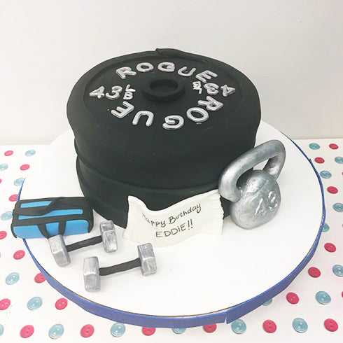 Dumbbells Gym Cake
