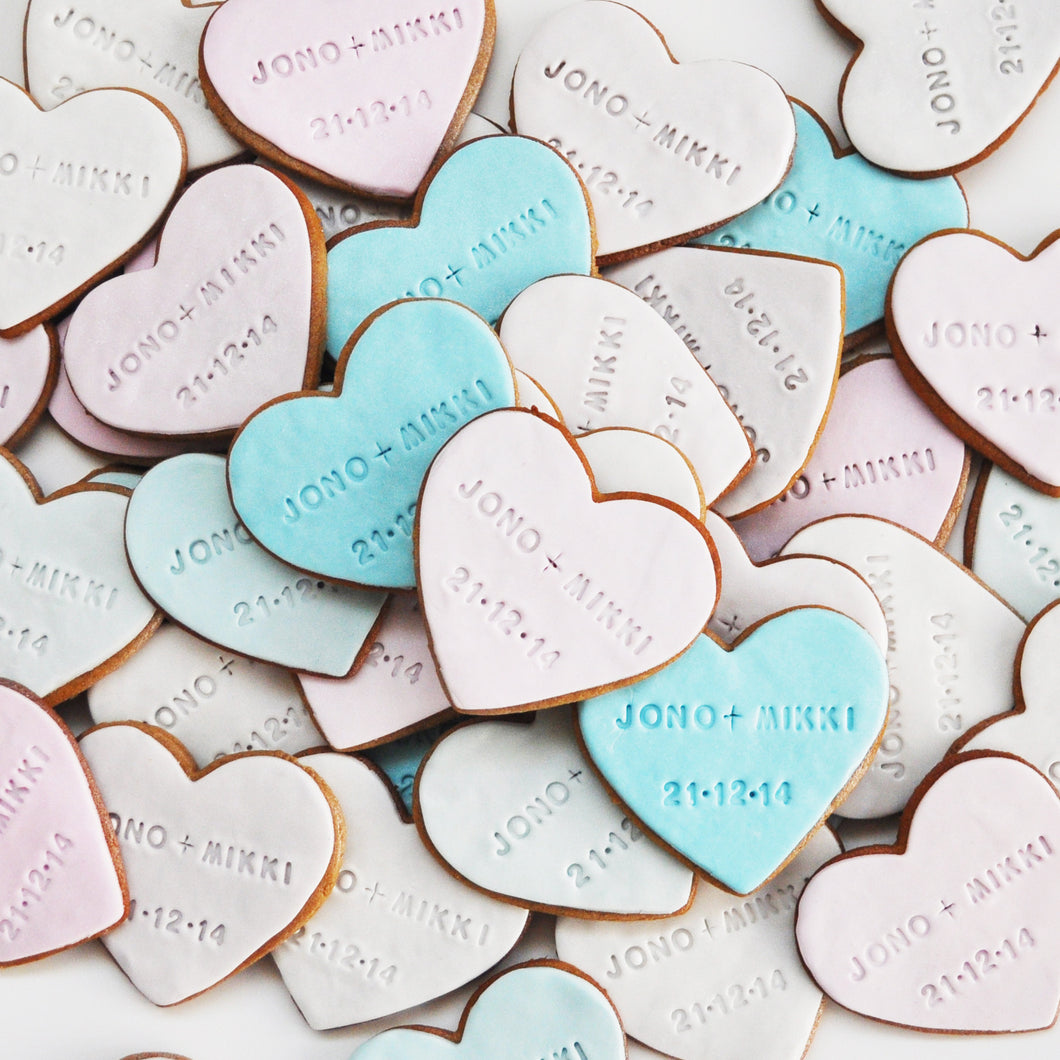 Heart Message Cookies