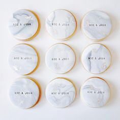 Marble Message Cookies