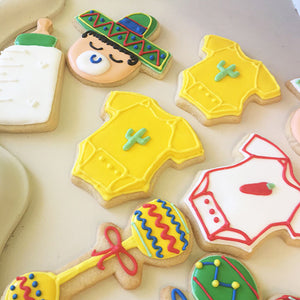 Mexican Baby Shower Cookies