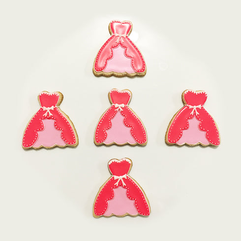 Princess Pink Dress Cookies