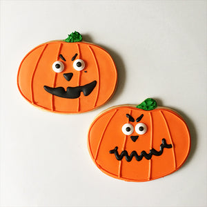 Scary Halloween Pumpkin Cookies