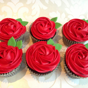 Red Roses Cupcakes