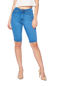 High Waist Bermuda Shorts - Light