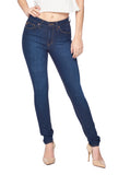 Classic High Waist Skinny Jeans - Dark Blue Wash