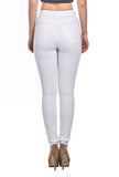 High Waist Distressed Skinny Jeans - White