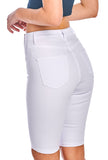 8 Button Bermuda Shorts - White