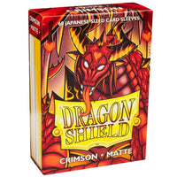 Dragon Shield Japanese 60ct Crimson MATTE 59x86mm Sleeves