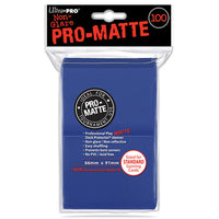 ULTRA PRO Deck Protector Sleeves Pro Matte Non-Glare Blue Standard 100ct 66 x 91