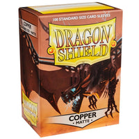 Dragon Shield Standard 100ct Copper MATTE 63x88mm Sleeves