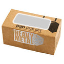ULTRA PRO Heavy Metal D20 2-Dice Set Gun Metal w/ White Numbers