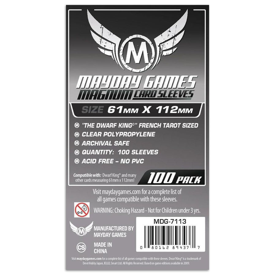 Mayday Standard Magnum Platinum Card Sleeve Pack of 100 61 X 112 MM