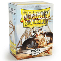 Dragon Shield Standard 100ct Ivory MATTE 63x88mm Sleeves