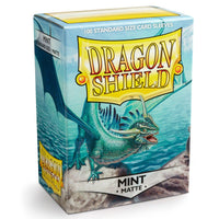 Dragon Shield Standard 100ct Mint MATTE 63x88mm Sleeves
