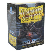 Dragon Shield Standard 100ct Black MATTE 63x88mm Sleeves