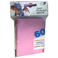 ULTRA PRO Deck Protector Sleeves Small 60ct 62 x 89 Pink Yugioh