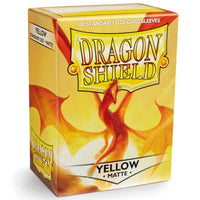 Dragon Shield Standard 100ct Yellow MATTE 63x88mm Sleeves