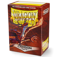 Dragon Shield Standard 100ct Crimson MATTE 63x88mm Sleeves