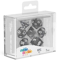 Oakie Doakie Dice RPG Set Speckled Black 7pc