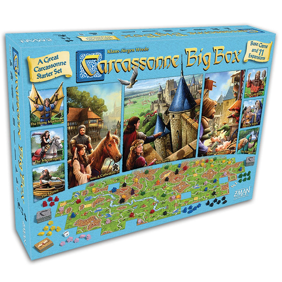 Carcassonne Big Box 2017 Board Game Card Game