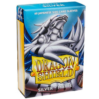Dragon Shield Japanese 60ct Silver MATTE 59x86mm Sleeves