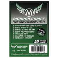 Mayday Premium Card Game Sleeves 50ct 63.5 MM X 88 MM Dark Green Pandemic