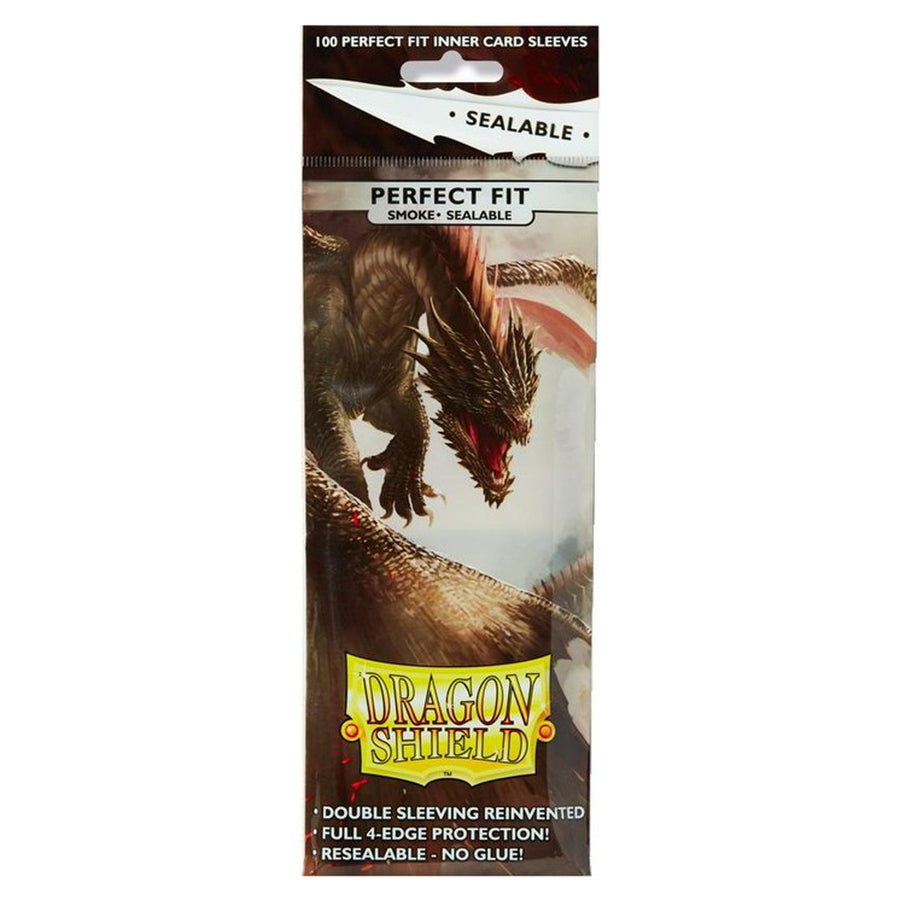 Dragon Shield Sleeves 100ct Perfect Fit Sealable Standard Smoke 63x88mm