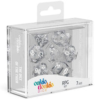 Oakie Doakie Dice RPG Set Translucent Clear 7pc