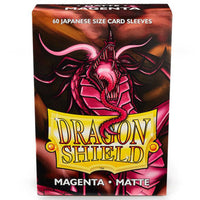 Dragon Shield Japanese 60ct Magenta MATTE 59x86mm Sleeves