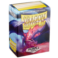 Dragon Shield Standard 100ct Purple MATTE 63x88mm Sleeves